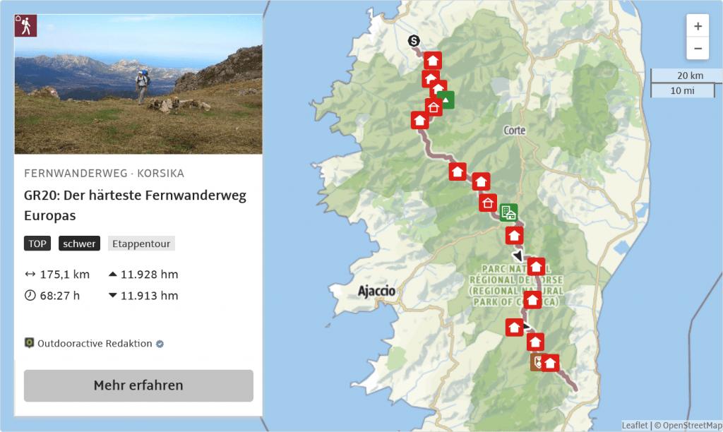 Fernwanderweg · Korsika GR20