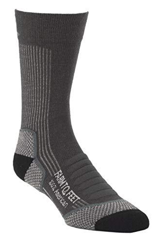 Farm to Feet Damascus Lightweight Crew Merino Wool Socken Medium anthrazit