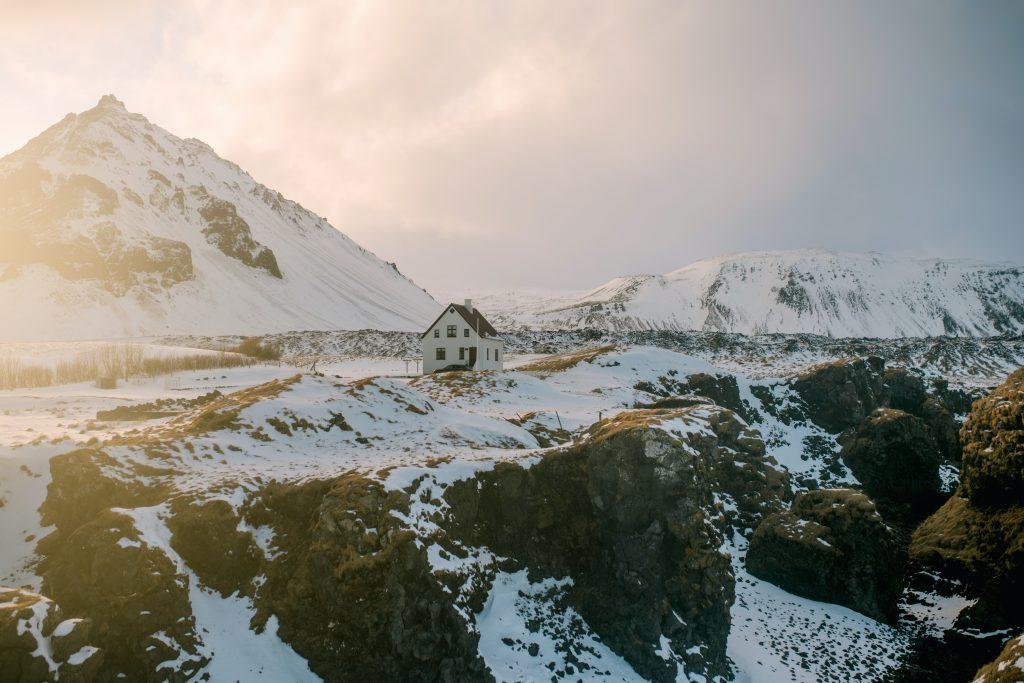 Im Winter Wandern in Island