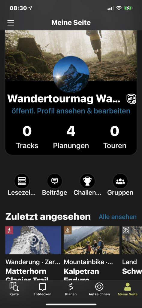 Wander App Outdooractive trackin
